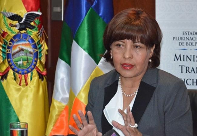 Ministra de Transparencia Institucional y Lucha Contra la Corrupción, Nardi Suxo. Foto: ABI