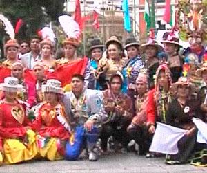 Bailarines danzan en defensa del patrimonio boliviano