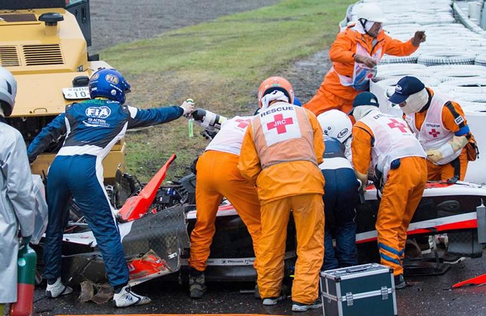 El piloto francés Jules Bianchi salió del coma en el que se encontraba. Foto: EFE
