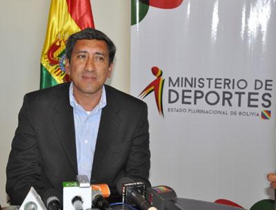Tito Montaño, ministro de Deportes. Foto: ABI