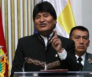 Presidente Morales se solidariza con el país venezolano y su homólogo Maduro