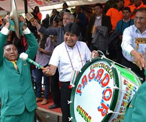 Presidente Morales participa en Carnaval de Orinoca-Oruro