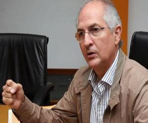 Momento de la detención de Antonio Ledezma, alcalde de Caracas