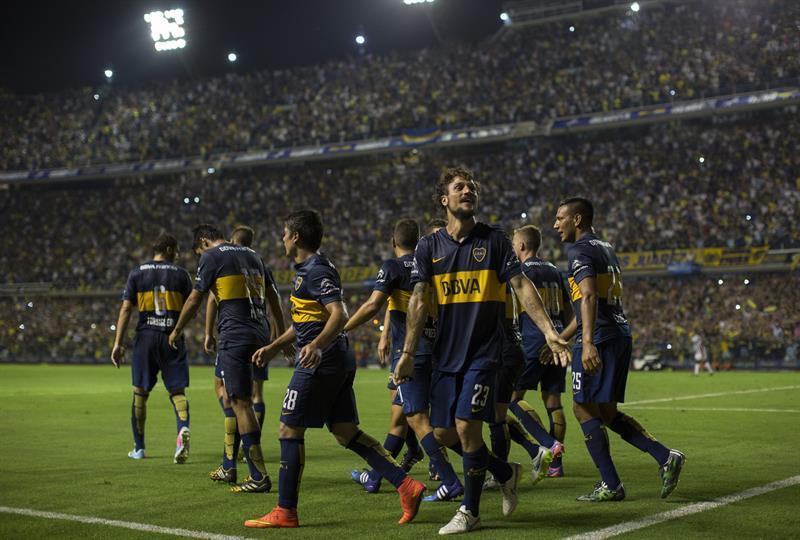 Boca Juniors venció a Montevideo Wanderers en La Bombonera. Foto: EFE