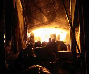 Atención a víctimas de incendio