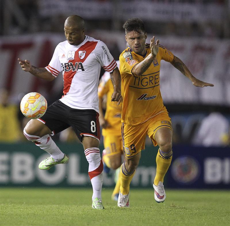 En imágenes el empate de River en el Monumental ante Tigres mexicano