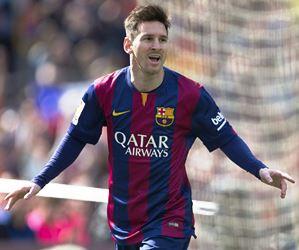 Tripleta de Messi le da al Barcelona el mando de la Liga