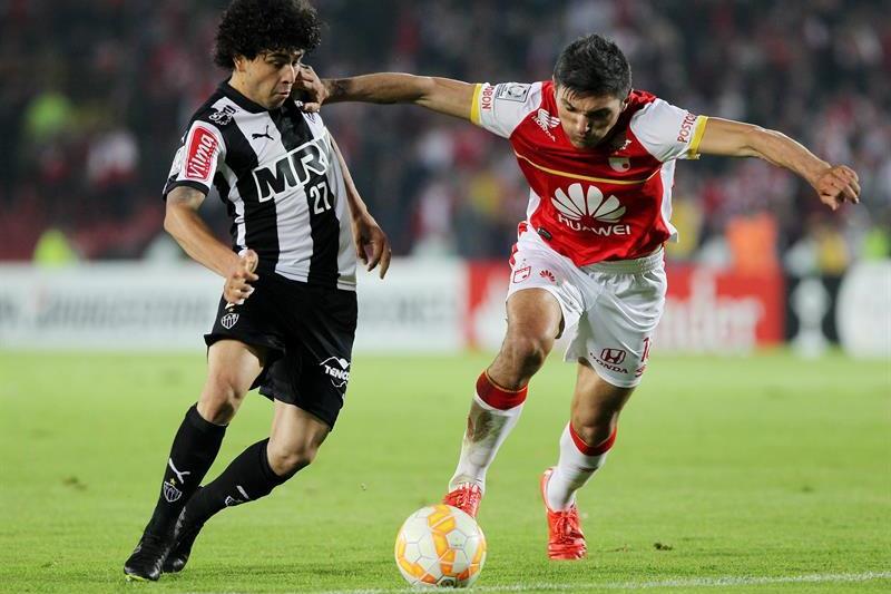Santa Fe perdió 0-1 ante Atlético Mineiro gracias a un gol de Pratto. Foto: EFE