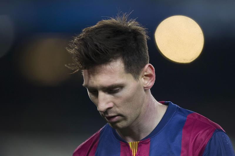 El delantero argentino del FC Barcelona, Leo Messi, durante el partido de vuelta de octavos de final de Liga de Campeones. Foto: EFE