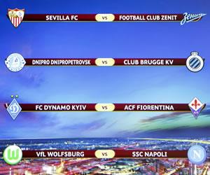 Sevilla-Zenit y Wolfsburgo-Nápoles, dos cuartos dignos de ser una final