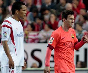 El Barcelona de Messi igualó con el Sevilla de Bacca