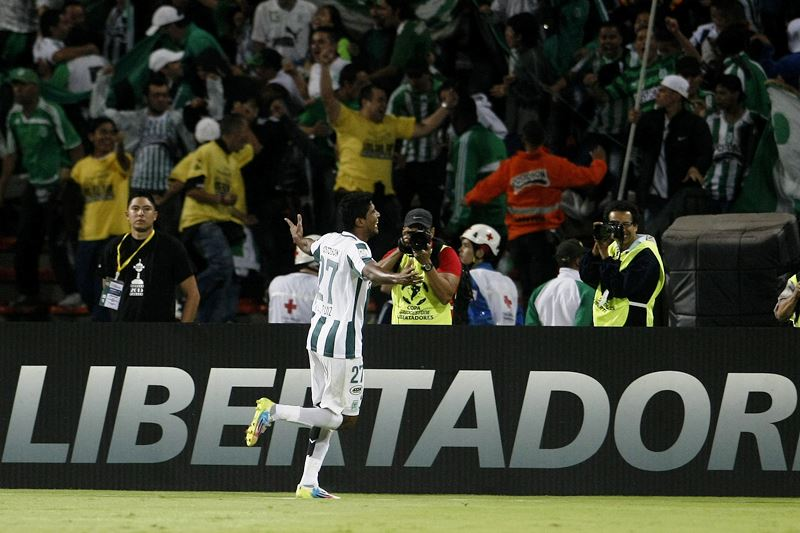 Nacional ganó 4-0 con un gol de Yulián Mejía, dos de Luis C. Ruiz y uno más de J. Copete. Foto: EFE