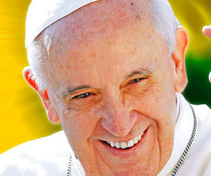 Presentan afiche de visita del Papa