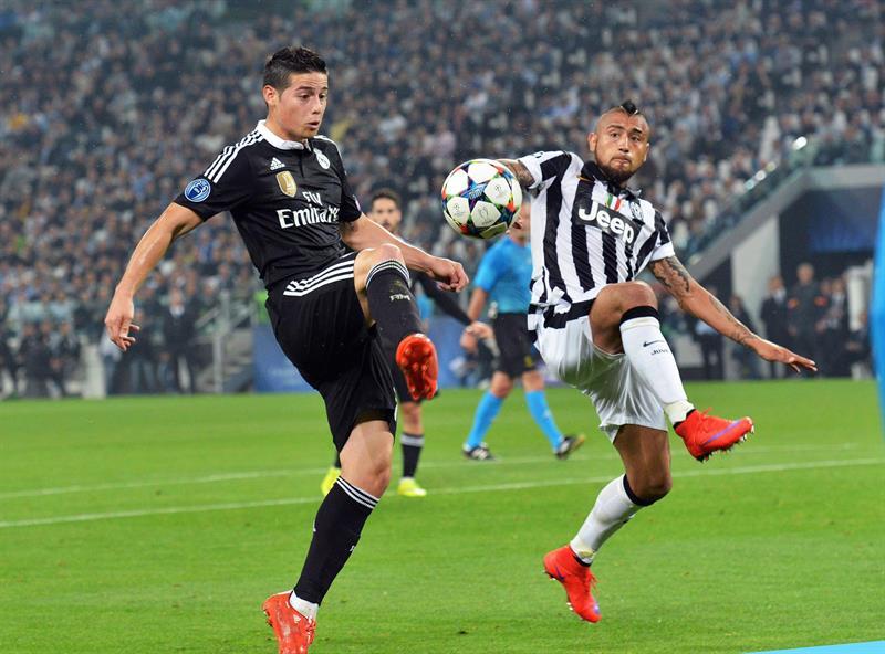 Juventus venció al Real Madrid de James Rodríjguez. Foto: EFE