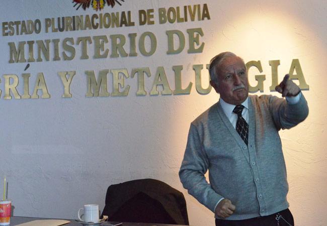 Luis Alberto Echazú, gerente nacional de Recursos Evaporíticos. Foto: ABI