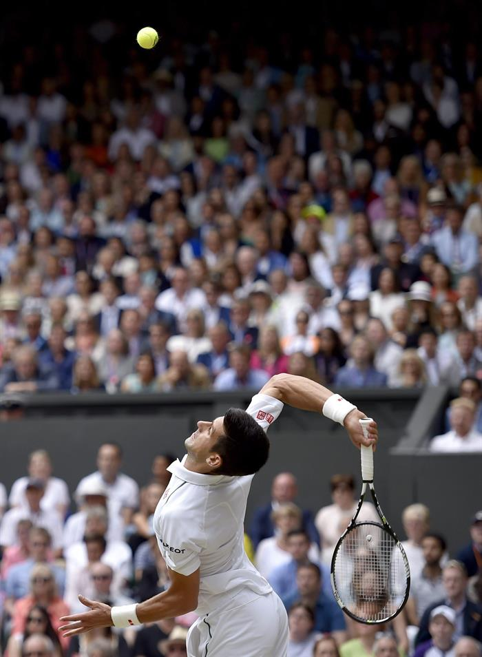 Novak Djokovic campeón de Wimbledon. Foto: EFE