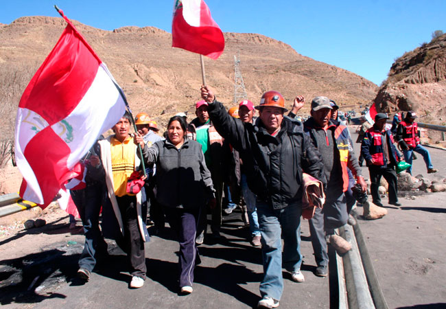 La ciudad de Potosí se encuentra en huelga desde hace más de 26 días. Foto: EFE