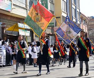 Cierres en La Paz por desfiles de fiestas patrias