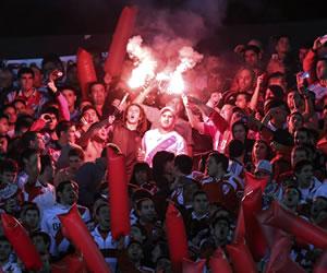 Así recibió la hinchada a River Plate