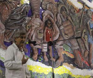 Presentan mural que refleja la historia del oriente boliviano