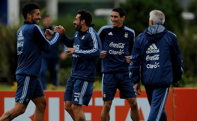 Entrenamiento de la Selección Argentina. Foto: EFE
