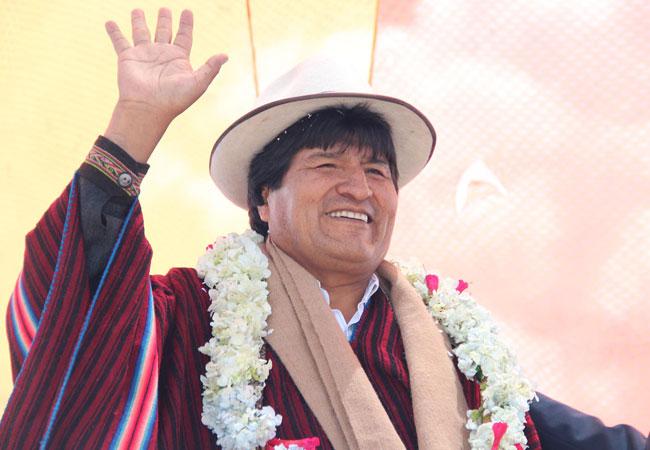 El presidente Evo Morales Ayma en una acto público en la zona de Tumarapi, departamento de La Paz. ABI