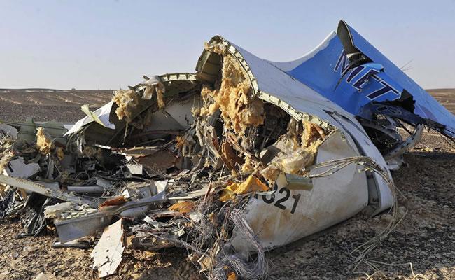 Este sería el momento en que Estado Islámico derribo avión ruso