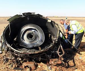 Avión ruso se destruyó en el aire