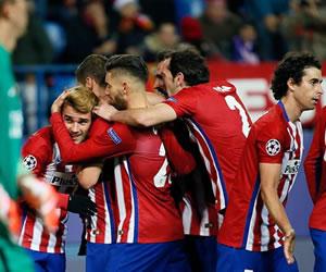 Atlético de Madrid ganó y se clasificó a octavos de final