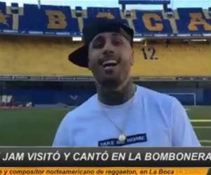 Nicky Jam cumplió su sueño, cantó en La Bombonera de Boca Juniors