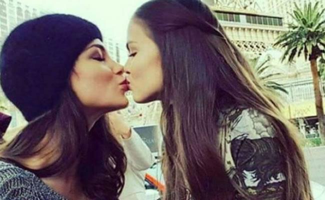 Dos candidatas a Miss Universo desatan polémica al darse un beso