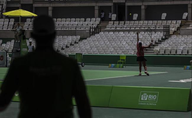 Instalaciones de tenis para los Juegos Olímpicos de Río 2016. Foto: EFE