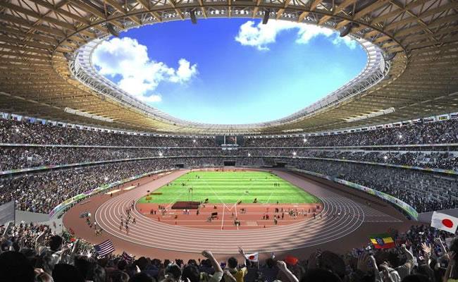Proyecto de estadio de Tokio para los Juegos Olímpicos de 2020. Foto: EFE