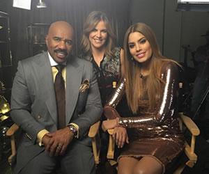 Ariadna Gutiérrez y Steve Harvey se encuentran luego de Miss Universo