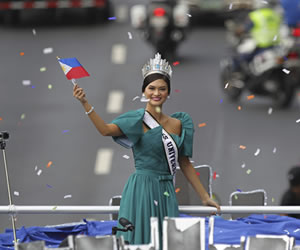 Miss Universo fue recibida como una 'Diosa' en Filipinas
