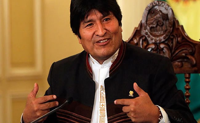 Evo destaca su trabajo por las mujeres bolivianas. Foto: ABI