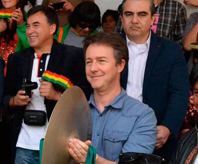 Edward Norton entusiasmado con volver a Bolivia