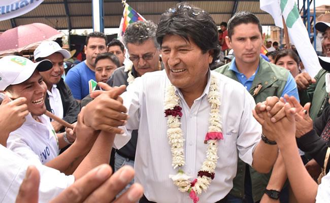 Evo Morales sufre ataque en redes sociales. Foto: ABI