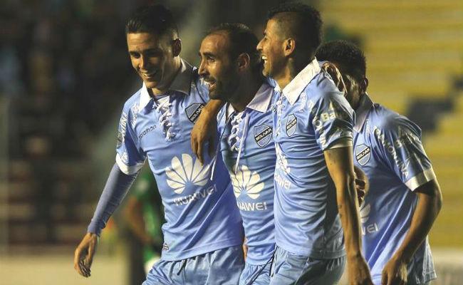 Los jugadores del Bolívar celebran el triunfo. Foto: EFE