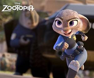 'Zootopia' consigue el primer puesto de la taquilla de Estados Unidos