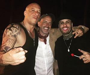 Vin Diesel disfruta al ritmo de reggaeton con Nicky Jam
