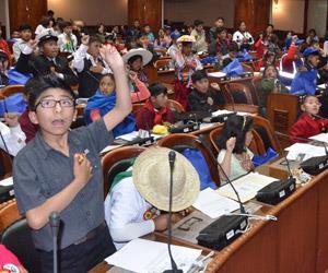 Niños de todo el país sesionaron en la Asamblea Legislativa