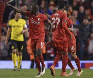 Liverpool está en semifinales tras ganarle al Borussia Dortmund