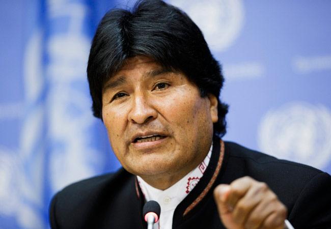 El presidente de Bolivia, Evo Morales, da una rueda de prensa en la sede de Naciones Unidas en Nueva York. EFE
