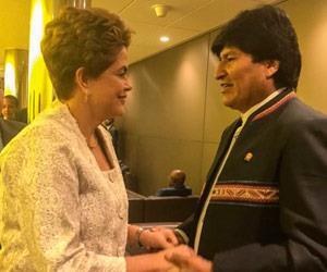 Evo Morales expresa su apoyo y solidaridad a Dilma Rousseff