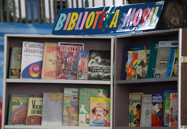 Una biblioteca movil. Foto: ABI