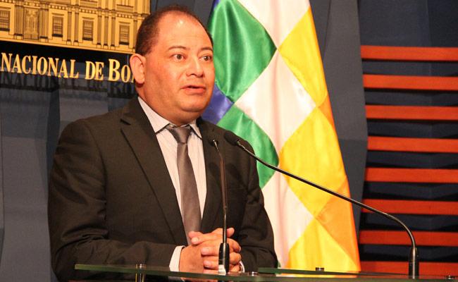 El ministro de Gobierno, Carlos Romero. Foto: ABI
