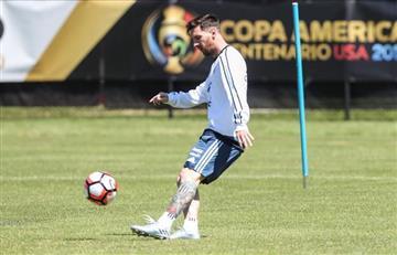 Copa América 2016: Lionel Messi tuvo su primer entrenamiento