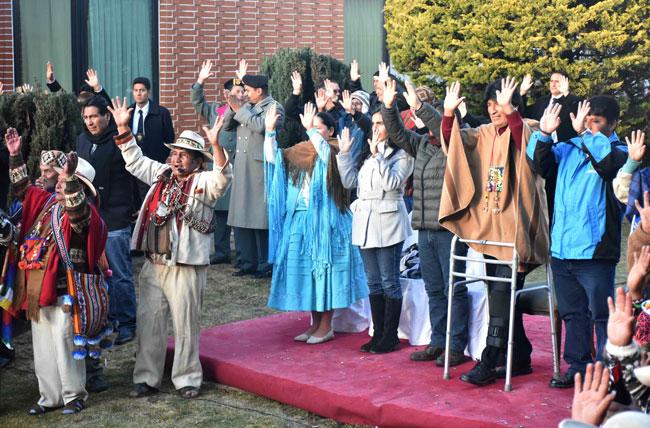El presidente Evo Morales celebró la llegada del nuevo año en su residencia. Foto: ABI