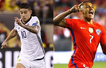 Colombia vs. Chile: Datos, alineaciones y transmisión